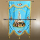 Banner with oil painting