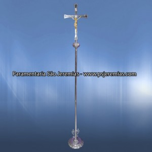 Silver Cross of Procession with base